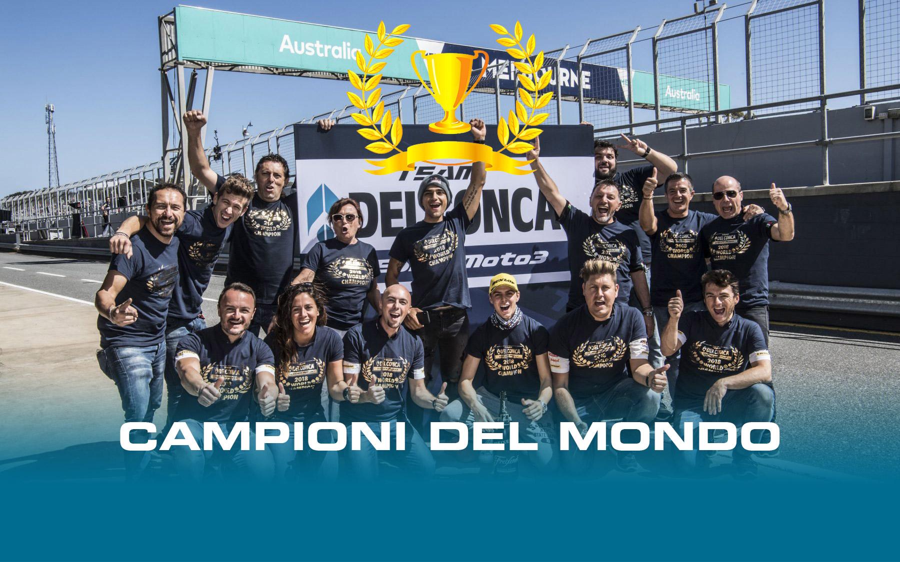 Team Gresini Moto3 Campione del mondo 2018   FD Group Ingegneria e design  industriale